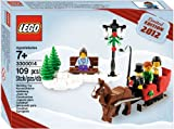 Dash through the snow in a one-horse open sleigh with this exclusive LEGO set that will put you in the holiday spirit! Features streetlamp, horse with movable legs, 2 trees, bench and 4 minifigures. Makes a great gift or seasonal decoration! - Includes sleigh, snow, bench, 2 trees and 4 minifigures- Also includes LEGO horse with hinged legs- Trot through the snow with the horse and sleigh!- Build a snowy scene with a pine tree and wooden bench!- Makes a great gift or seasonal decoration!