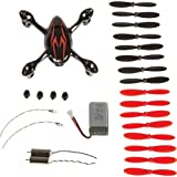 Hubsan X4 H107C Quadcopter Spare Parts Crash Pack Black/Red