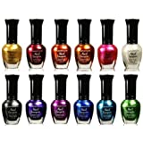 Kleancolor Nail Polish - Awesome Metallic Full Size Lacquer Lot of 12-pc Set