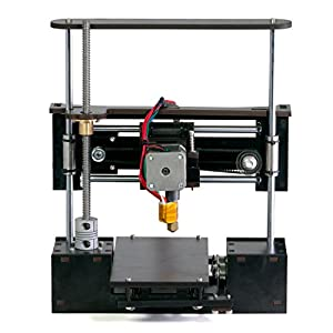 "OneUp 3D Printer Kit with Heated Bed 4"" x 4"" x 5"" Build Dimensions 50 Micron 1.75mm PLA ABS Nylon Filament from Q3D"