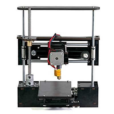 """OneUp 3D Printer Kit with Heated Bed 4"""" x 4"""" x 5"""" Build Dimensions 50 Micron 1.75mm PLA ABS Nylon Filament"""