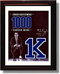 Framed Duke Blue Devils Coach Krzyzewski Commemorative Autograph Replica Print