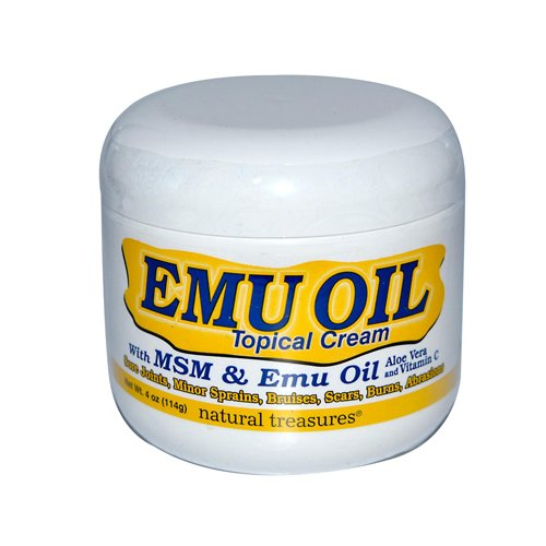 B.N.G. Natural Treasures Emu Oil Topical Cream 4 Oz