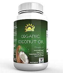 Nutria Organic Coconut Oil 1000mg Weight Loss Supplement, 60 Veg Softgels