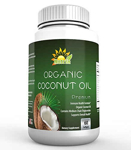 Best-Organic-Coconut-Oil-1000mg-By-Nutria-60-Premium-Vegetarian-Soft-Gels-High-Potency-Dietary-Supplement-Softgels-Made-In-USA-Gluten-Free-Non-GMO-For-Weight-Loss-Healthy-Hair-Skin-Fat-Burning
