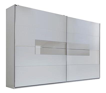 """Schwebeturenschrank """"PRIME L""""- Schrank Kleiderschrank Schlafzimmer 200x218x65cm Alpinweiss Prosecco"""