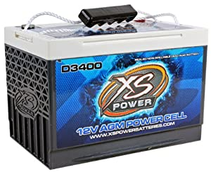XS POWER D3400 12 Volt 3300 Amperes Car Audio AGM Power Cell Battery Pure Virgin Lead Design