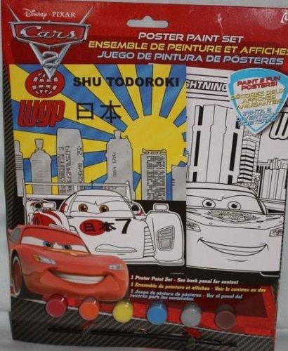 Disney Pixar Cars 2 Shu Todoroki & Lightning McQueen Poster Paint Set