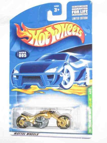 2001 Treasure Hunt #5 Blast Lane Gold #2001-5 Collectible Collector Car Mattel Hot Wheels - 1