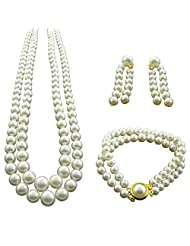 Jpearls 2 Lines Pearl Necklace