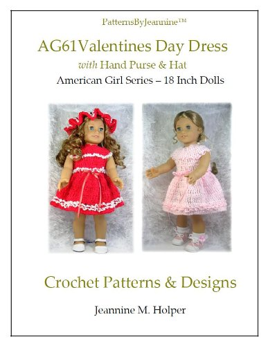 American Girl Valentines Day Dress Crochet Pattern (Patterns by Jeannine)