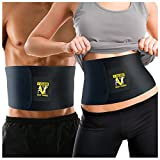 Waist Trimmer Ab Belt (Premium Edition) - Adjustable Weight Loss Sauna Belt For Men & Women With Lower Back & Lumbar Supports For Easy, Effortless Waist Slimming - 100% Lifetime Satisfaction Guaranteed.