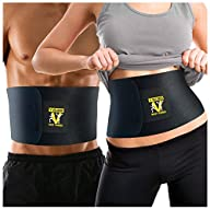 Waist Trimmer Ab Belt (Premium Edition) – Adjustable Weight Loss Sauna Belt For Men & Women With…