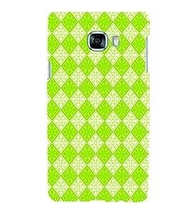 PrintVisa Corporate Print & Pattern Green Square 3D Hard Polycarbonate Designer Back Case Cover for Samsung C7