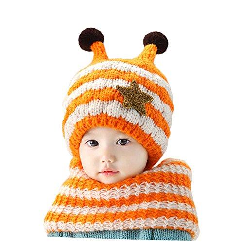 gemini-fairy-stylish-stripe-handmade-crochet-bee-style-baby-hat-and-scarf-set-orange