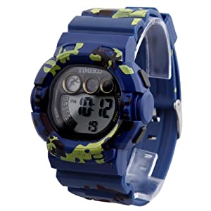 TIME100 Cool Armed Forces Style Multifunction Navy Blue Outdoor Sport Electronic Watch #W40019M.02A