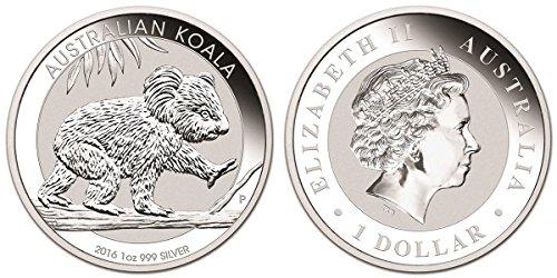 2016 Australian Koala 1 Ounce Silver Coin .999 Fine Silver