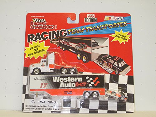 1995 Western Auto Darrell Waltrip #17 Scale Racing Team Transporter w/Die Cast Cab - 1