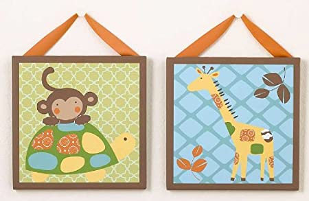 In the Jungle Canvas Wall Art - Set of 2