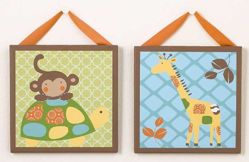 In the Jungle Canvas Wall Art - Set of 2 - 1