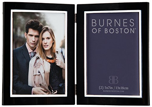Burnes of Boston 163257 City Lights Double Hinged Picture Frame, Black, 5 by 7 Inches (Burnes Of Boston Picture Frames compare prices)