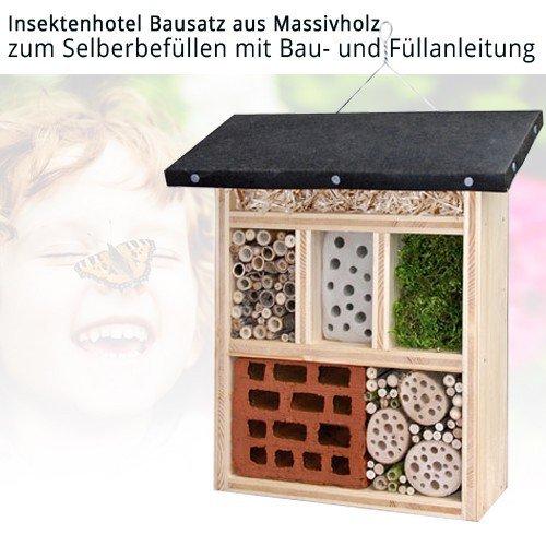 n tzlingshotel insektenhotel bausatz aus massiv holz zum. Black Bedroom Furniture Sets. Home Design Ideas