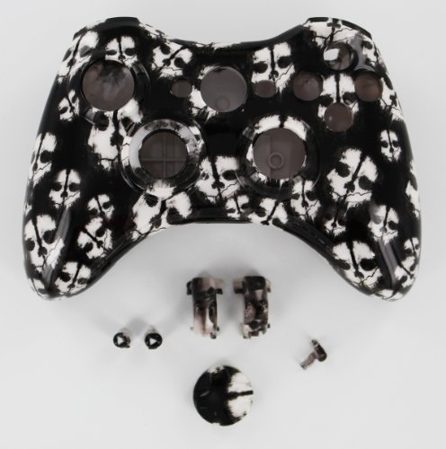 WHITE Call of Duty Ghost Xbox 360 Wireless Controller Shell Housing (d-pad, Triggers)