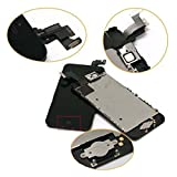 cellphoneage® for iPhone 5C Black Full Set with Spare Parts LCD Screen Replacement Digitizer with Home Button, Bracket, Flex, Sensor, Front Camera, Frame Housing Assembly Display Touch Panel + Free Repair Tool Kits