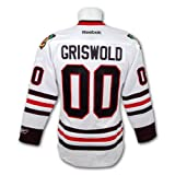 Clark Griswold Christmas Vacation Blackhawks Premier Replica White Hockey Jersey Size L