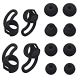 JNSA Replacement Wingtips & Eartips Set for BeatsX Beats X Headphones, Soft Wing Tips 2 Size 2 Pairs & Ear Tips 4 Size 4 Pairs,Accessory Pack for BeatsX,Black 2+3 (Color: black)