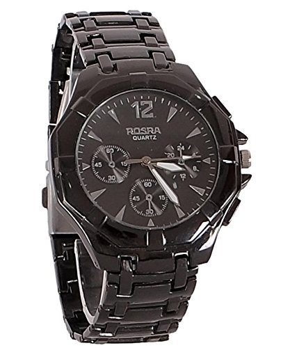 Fighter Full Black Rosra Classic Men's Analog Watch RosraBL