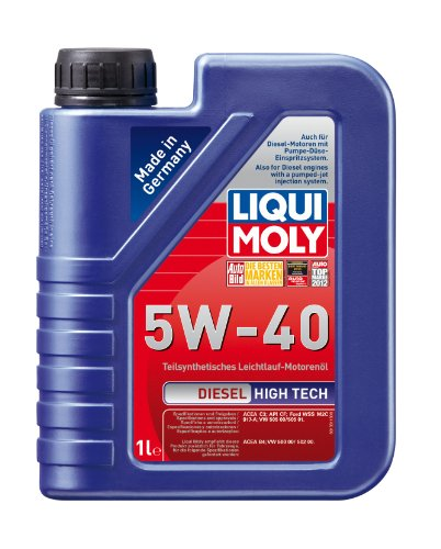 Liqui Moly (1331) 5W-40 Synthetic Blend High Tech Diesel Engine Oil - 1 Liter Bottle промывка двигателя engine flush liqui moly 250мл