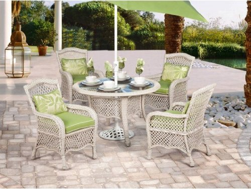 Good pc Pebble Isle Outdoor Round Dining Set Free Umbrella While Supplies Last by Agio