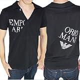 エンポリオアルマーニ EMPORIO ARMANI ポロシャツ ロゴプリント Vネック 半袖 ポロシャツ