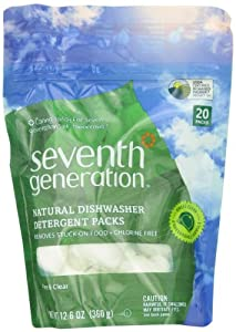 Seventh Generation Auto Dish Packs, Free and Clear, 20-Count, Packaging May Vary