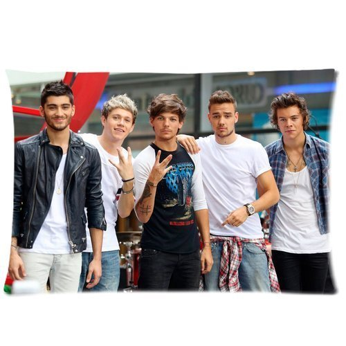"""One Direction Custom Zippered Pillowcase 20""""x30"""" Two sides"""