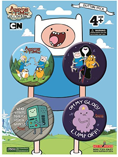 Adventure Time 4 Button Pack - High Quality Buttons