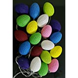 My Party Suppliers Oval Shape Battery Operated Home Decoration Light Thai Cotton Balls String Series (LADI) Battery...