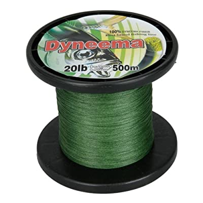 Super Strong Dyneema Braid Braided Fishing Line 500m 020mm 20lb Green from Crazy Cart