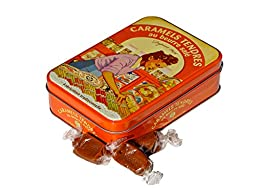 Salted Butter Caramels in Yvonne Gift Tin by La Maison D\'Armorine