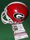Champ Bailey AJ Green Aaron Murray Signed Georgia Bulldogs Mnin Helmet - JSA Certified - Autographed NFL Helmets