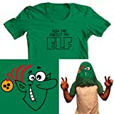Ask me about my Elf Mens Funny Flip Tee T-Shirt All Sizes Free UK Postage