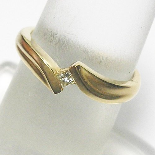 14K Yellow Gold Diamond Solitaire Promise Ring - 0.07 Ct.