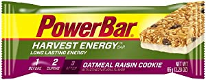 PowerBar Harvest Energy Bars, Oatmeal Raisin Cookie, 2.29-Ounce Bars (Pack of 15)