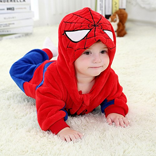 Wheat's baby home ® Unisex Baby Costume Spider-man Romper Overall Jacket