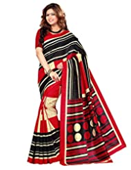 Sangam Saree Womens Multi Colour Cottan Bhagalpuri Print Saree