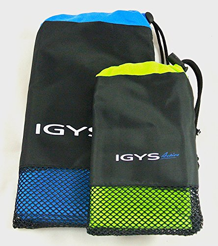 Microfiber Towels for Gym, Travel, Pool, Yoga, Sports, Camping, Fitness, Hiking, Work Out, Scuba Diving, Beach - Light Weight, Quick Dry, 2 Sizes for Your Active Lifestyle - with Mesh Bag