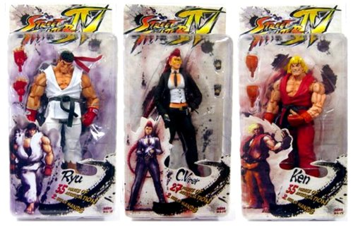 Picture of NECA Street Fighter 4 Series 1 Set of 3 Action Figures (B001PNCG1W) (NECA Action Figures)
