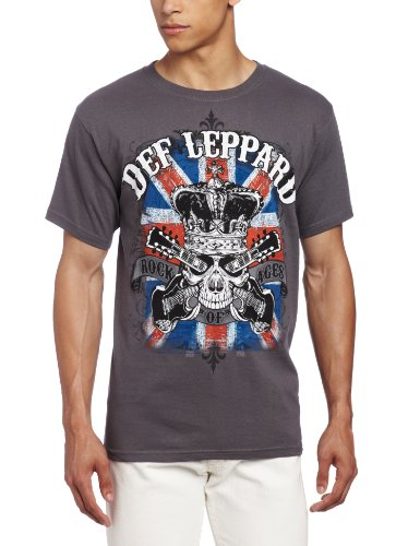 Def Leppard - Uomo Rock Of Ages T-Shirt In Carbone-large