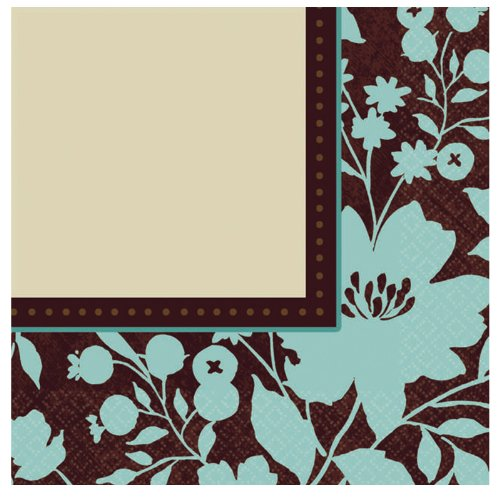 Cocoa Floral Small Napkins (16ct)